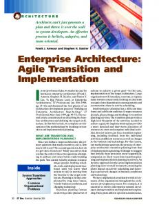 Enterprise architecture: agile transition and ... - IEEE Xplore