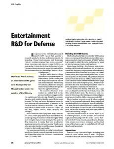 Entertainment R and D for defense - Computer