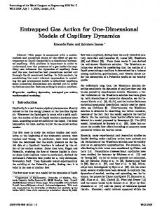 Entrapped Gas Action for One-Dimensional