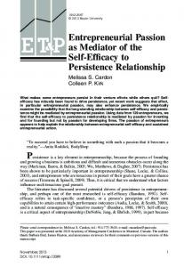Entrepreneurial Passion as Mediator of the ...