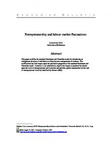 Entrepreneurship and labour market fluctuations Abstract - Core