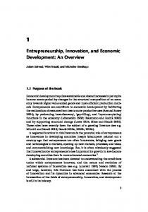 Entrepreneurship, Innovation, and Economic