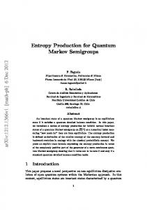 Entropy Production for Quantum Markov Semigroups