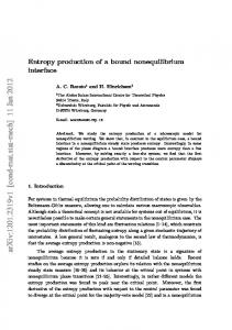 Entropy production of a bound nonequilibrium interface