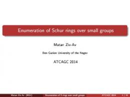 Enumeration of S-rings over small groups - KAM