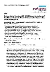 Enumeration of Somatic and F-RNA Phages as an Indicator of Fecal ...