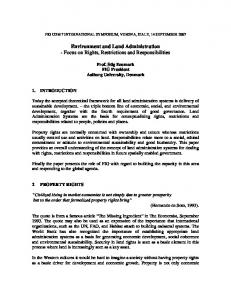 Environment and Land Administration - Focus on Rights ... - CiteSeerX