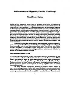 Environment and Migration, Purulia, West Bengal