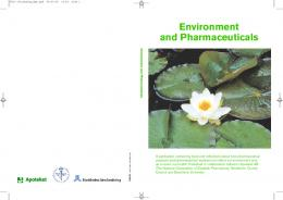Environment and Pharmaceuticals - Janusinfo