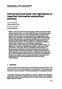 Environment and trade: the implications of imperfect information ... - LSE