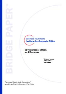 Environment, Ethics and Business -- Business Roundtable Institute ...