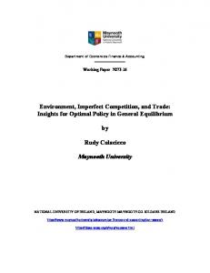Environment, Imperfect Competition, and Trade ... - Editorial Express
