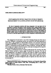 Environment Protection Engineering CONTAMINATED SITES ...