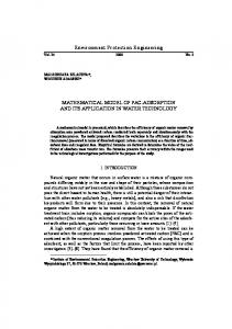 Environment Protection Engineering MATHEMATICAL MODEL OF