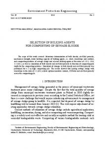 Environment Protection Engineering SELECTION OF BULKING ...