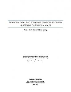 Environmental and Economic considerations on ...