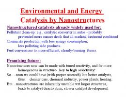 Environmental and Energy-Related Catalysis