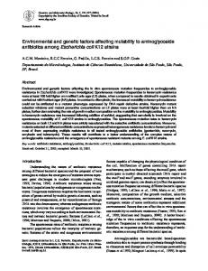 Environmental and genetic factors affecting