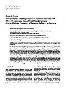 Environmental and Organizational Factors Associated with Elbow ...