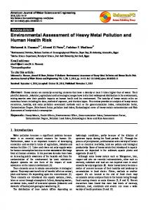 Environmental Assessment of Heavy Metal Pollution ...