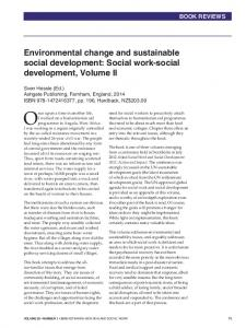 Environmental change and sustainable social development: Social ...