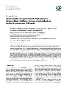 Environmental Characteristics of Polybrominated Diphenyl Ethers in ...