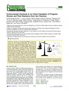 Environmental Chemicals in an Urban Population ... - ACS Publications