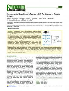 Environmental Conditions Influence eDNA ... - ACS Publications