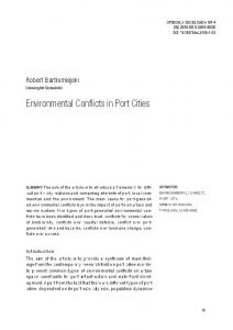 Environmental Conflicts in Port Cities - cejsh