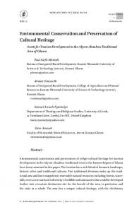 Environmental Conservation and Preservation of Cultural Heritage