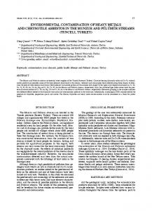 environmental contamination of heavy metals and chrysotile asbestos ...