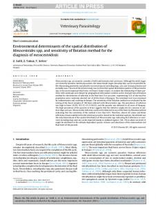 Environmental determinants of the spatial ...