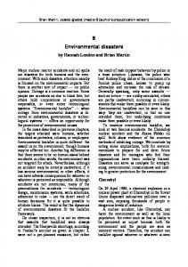 Environmental disasters - Brian Martin