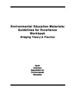 Environmental Education Materials: Guidelines for Excellence