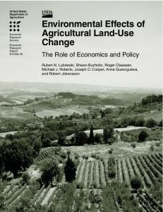 Environmental Effects of Agricultural Land-Use Change - National ...
