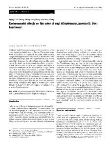 Environmental effects on the color of sugi (