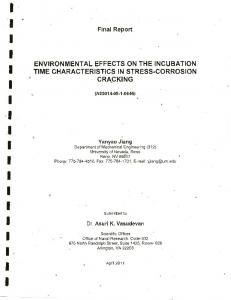environmental effects on the incubation time