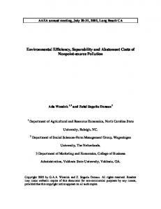 Environmental Efficiency, Separability and ... - AgEcon Search