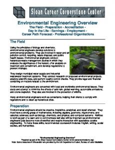 Environmental Engineering Overview