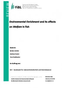 Environmental Enrichment and its effects on Welfare in fish Autoren