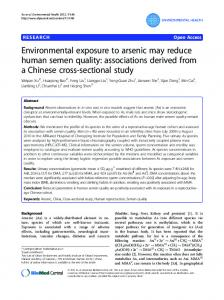 Environmental exposure to arsenic may reduce ... - BioMedSearch