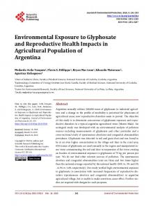 Environmental Exposure to Glyphosate and Reproductive Health