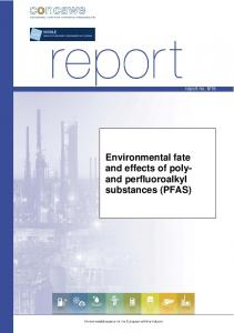 Environmental fate and effects of poly- and perfluoroalkyl - Concawe