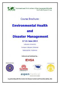 Environmental Health and Disaster Management - Alliance for ...