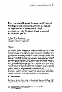 Environmental Impact Assessment - WIT Press