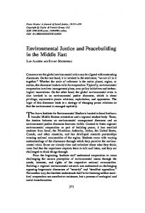 Environmental Justice and Peacebuilding in the Middle East