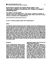 Environmental magnetic and magnetic fabric studies in ...