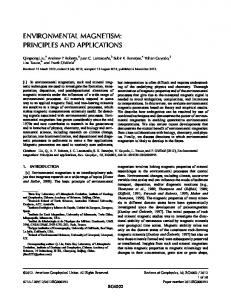 Environmental magnetism: Principles and ... - Wiley Online Library