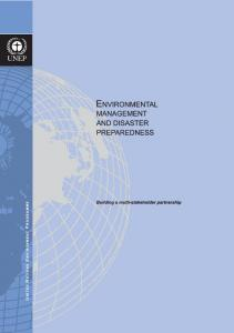 Environmental Management and Disaster Preparedness