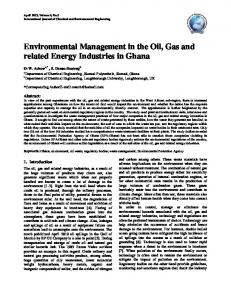 Environmental Management in the Oil, Gas and related Energy ...
